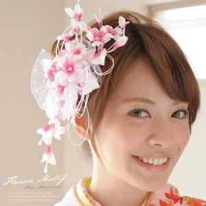 桜モチーフの優しい印象の髪飾り♪ 成人式 , 振袖 , 卒業式 , 袴 , 結婚式 , ドレス , 着物 , ...