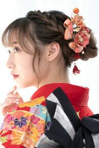 ピンク,和柄デザイン,髪飾りセット