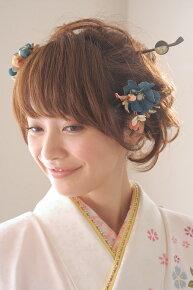 緑,和柄デザインの髪飾りセット