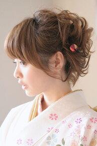 和柄縮緬地の髪飾りセットb