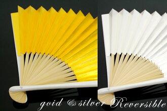 Fan for weddings for matrimonial fan Dancewear Suehiro gold and silver shou, h. kimono