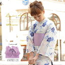 浴衣 3点セット(浴衣/作り帯/下駄) レディース浴衣 女性用 bon...