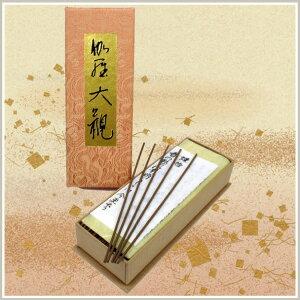 【送料無料】日本香堂の高級線香「香木・沈香のなかでも最高とされる伽羅を用いて練り上げた、...