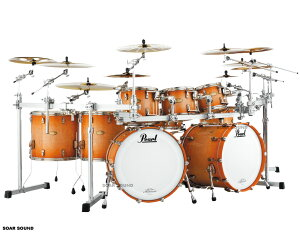 Pearl パール ドラムセット MASTER WORKS マスターワークスSTADIUM シェルセット Natural To Light Brown Burst Over Flame Maple