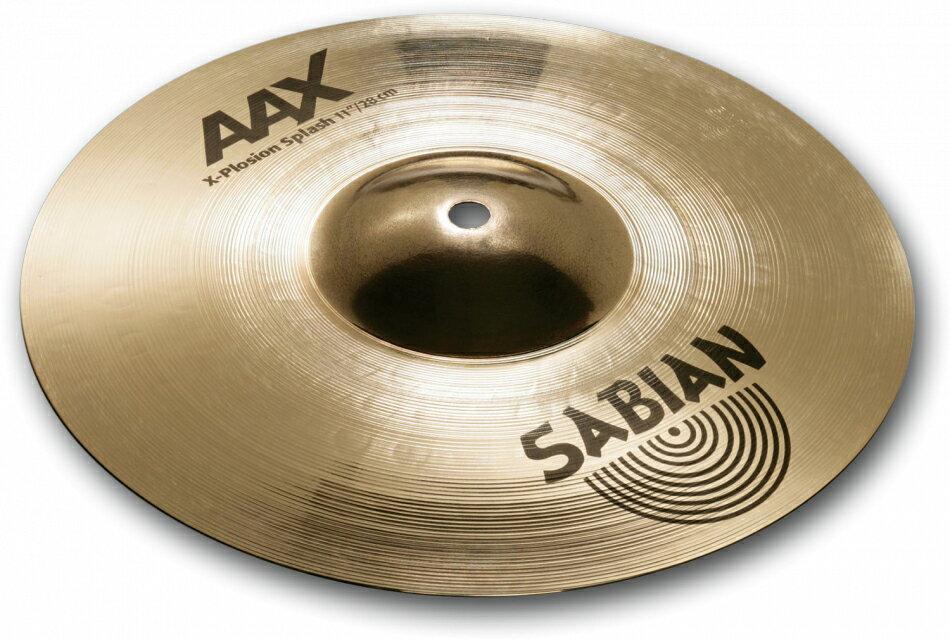 ドラム, クラッシュシンバル SABIAN AAX X-PLOSION SPLASH AAX-11XPSP-B 11(28cm) : Extra Thin AAX