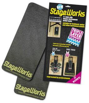 腳踏板防滑! StageWorks 鼓踏板墊防滑腳踏墊防滑踏板墊隔音和振動隔離