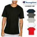 チャンピオン Champion クルーネック 半袖 Tシャツ6.1oz Tagless T-Shirt 6.1オンス ティーシャツUネック 無地 CロゴUSAモデル メンズ 【ネコポス(1点のみ)】 【正規品】【送料無料】