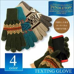 ペンドルトン PENDLETON スマホ対応ネイティブ柄 ウール ニットグローブタッチグローブ TEXTING GLOVE 手袋 5本指メンズ レディース (GS618)【正規品】【DM便発送可(1点のみ)】