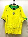 ナイキ 2004-05 nike-116603-729 ブラジル ホーム ゲーム シャツ 半袖