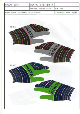 アスレタ 2013FW STYLE-05154 フィールド ニット グローブ 手袋