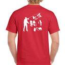 ■お祝いTシャツ■還暦Tシャツ(赤)■生涯釣りバカ■スタンダードTシャツ■綿100%■サイズ S〜XL■フィッシング■太公望■おもしろTシャツ■半袖