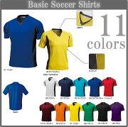 ベーシック ネックサッカーシャツ オーダー ユニフォーム ポリエステル マーキング サッカー Tシャツ バレーボール