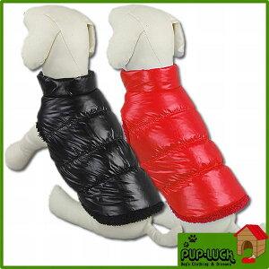 【特価】ダウンジャケットドッグウェア■赤、黒■ペットウェア/ドッグウエア/小型犬…