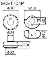 ワイヤレスコールパナソニック浴室発信器+卓上受信器セット[ECE1704P-ECE1601Pセット]