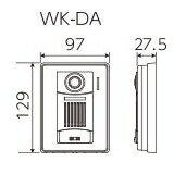 [WK-DA]アイホンテレビドアホンROCOタッチポータブル(WK-24A)用増設用カメラ付玄関子機[WKDA]
