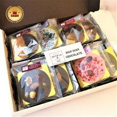 ギフトボックス付マンディアンチョコレートアソート8枚セット贈り物詰め合わせ無添加オーガニックカカオ豆SOCOLAソコラロータストサクラ