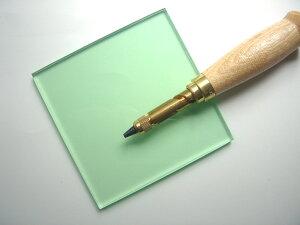 【5000円以上お買い上げで送料無料】ビニ板(グリーン透明)カッティングマット100x100x6mmポンチ用