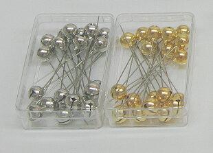 リンリン(鈴付)待針20本針長:40mm全長50mm太さ:0.53mm