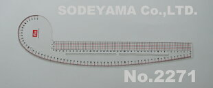 PRYM(NIGAL)EUカーブ尺方眼入り透明65cm