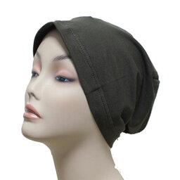 【メール便 送料185円】すっぽり綿帽子 ブラウン C023 帽子 医療用帽子 PEER【PE】