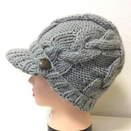 ボタン付きキャスケット グレー C010 帽子 医療用帽子 PEER【PE】