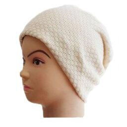 【メール便 送料185円】綿の柄織りワッチ(ドット) アイボリー C009 帽子 医療用帽子 PEER【PE】
