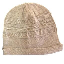 【メール便 送料185円】綿の柄織りカバー帽子 ベージュ C022 帽子 医療用帽子 PEER【PE】