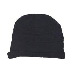 【メール便 送料185円】綿の柄織りカバー帽子 クロ C022 帽子 医療用帽子 PEER【PE】