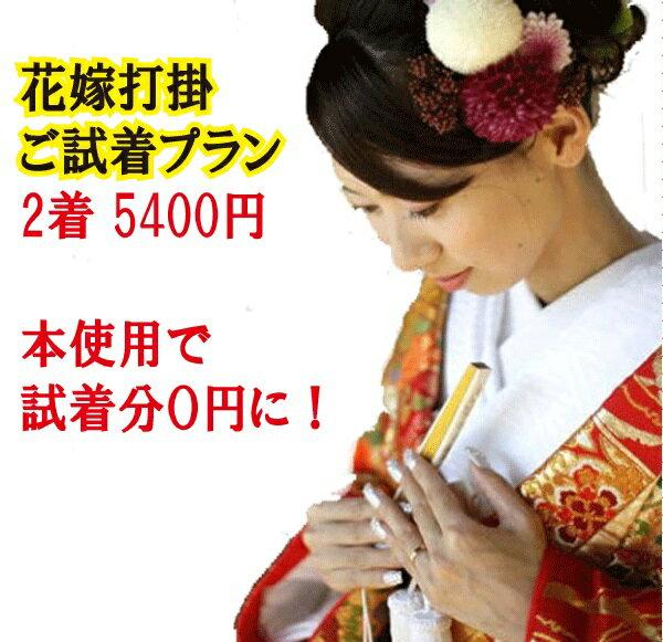 【レンタル】安心試着プラン/色打掛/花嫁衣裳/色打掛/和装