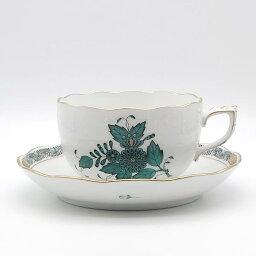 ヘレンド アポニーグリーン2 ティーカップ&ソーサー AV2-0724-0-00  洋食器 ハンガリー ハンドペイント