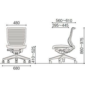 epios(エピオスチェア)メッシュ/ローバック/肘なし/樹脂脚:T1/ブラックT(フリーロッキングタイプ)/ハンガー付【自社便/開梱・設置付】