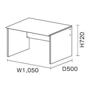 ニューワークスタジオ/デスク/DD-101/W105×D50cm