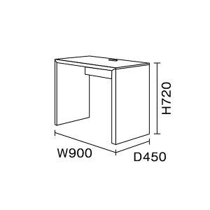 ワークスタジオ/FLAT/デスク(引出しなし)/W90cm/奥行45cm(DD-901-BK/DD-901-WH)