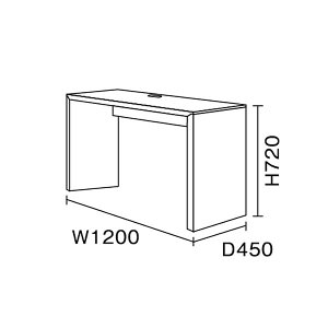 ワークスタジオ/FLAT/デスク(引出しなし)/W120cm/奥行45cm(DD-121-BK/DD-121-WH)