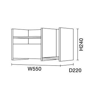 ワークスタジオ/FLAT専用オプション/スマートシェルフ(DD-U332-BK/DD-U332-WH)