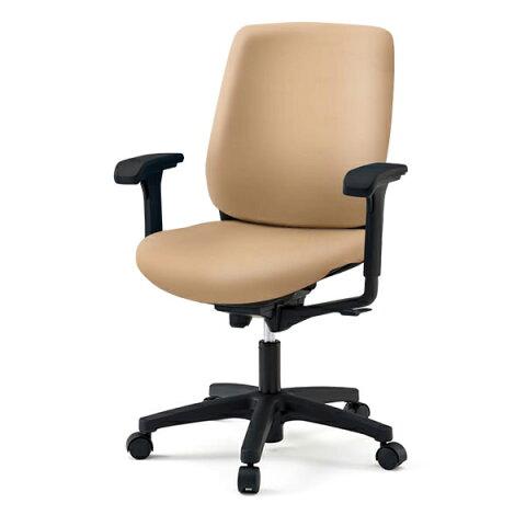 オフィスチェア/ イトーキ トルテRチェア ハイバック ビニールレザー張り(DL張地)/可動肘付/樹脂脚