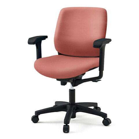 事務椅子/ イトーキ トルテRチェア ローバック ビニールレザー張り(DL張地)/可動肘付/樹脂脚