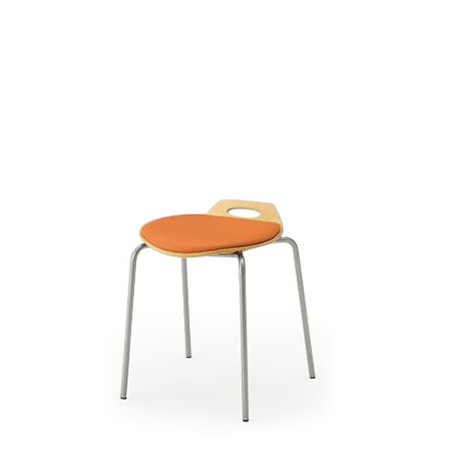 会議椅子会議チェアーミーティングチェアー椅子イスオルノチェアスタッキングスツールクッション付タイプイトーキKJA-160