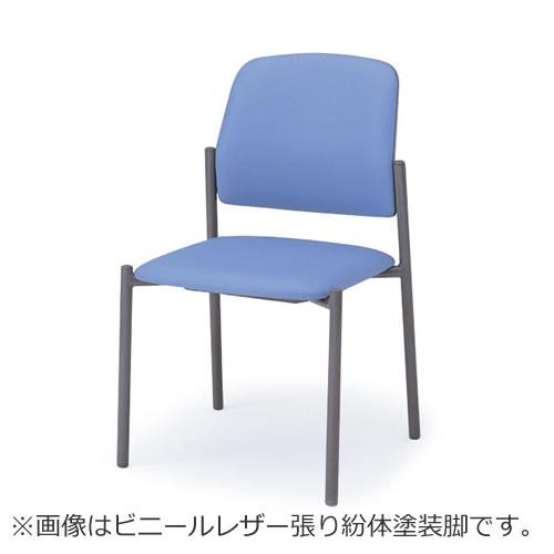 会議椅子会議チェアーミーティングチェアー椅子イスミーティングチェアLKキャスターなしスタッキング肘なしクロームメッキ脚ビニールレザーイトーキKLK-160DF-Z9