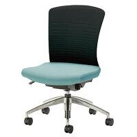 オフィスチェアーオフィスチェア椅子WITチェアアルミ脚背パット無WTS-50
