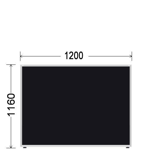 ローパーティション衝立BelfixベルフィクスLPEパネル幅1200生興LPE-1112