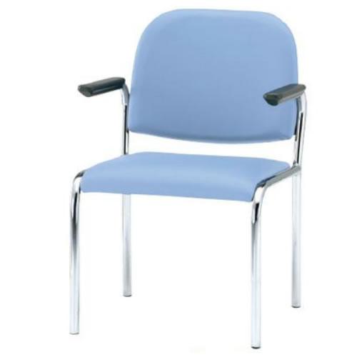 TOKIOミーティングチェア椅子会議チェア4本脚タイプ肘付ビニールレザー張り4脚セットFSZ-4AL-SET
