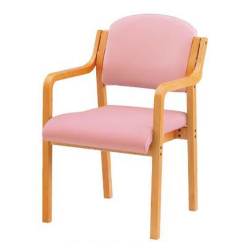 木製チェア4脚セット肘付ビニールレザーダイニングチェアスタッキングチェア椅子TOKIOFVK-5AL-SET