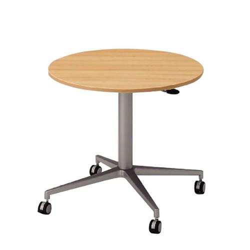 昇降テーブル円型タイプウレタン双輪キャスターストッパー付