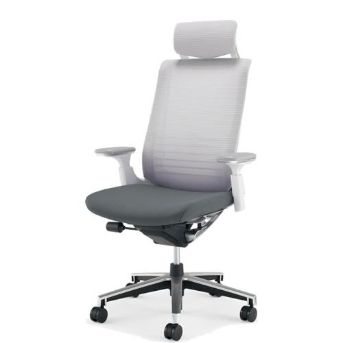 コクヨ インスパイン オフィスチェア 椅子 可動肘 ヘッドレスト付 前傾姿勢 CR-GA2515:オフィスチェアー専門館