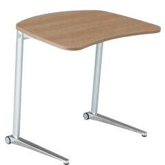 オカムラ シフト テーブル 傾斜天板 ワイド650mm ホワイト脚 幕板なし MS85FA