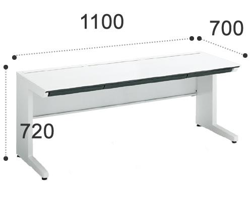 コクヨiSデスクシステムスタンダードテーブル幅1100ミリSD-ISN117CLSPAWN