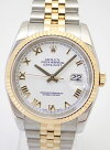 ROLEXロレックスデイトジャスト116233白金ローマF番(2005年)メンズ腕時計中古美品【中古】【USED】【ロレックス】【デイトジャスト】【116233】