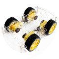 Arduinoの4輪駆動スマートカー車体キットロボットカーArduinoやRaspberryPiで応用できる汎用的な4WD車体スマートカーシャーシキットsmartcar【レターパック配送可能】【自力志向シリーズ】