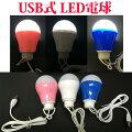 【定形外郵便配送限定】USB電球型LEDライト低消費電力なのに超明るい!場所をとらないミニサイズで防災・アウトドア用に最適【郵送限定送料無料品です】
